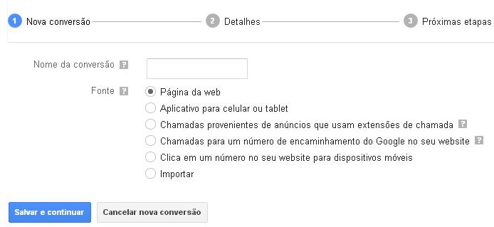 Configurando a Tag de Conversão do Google Adwords