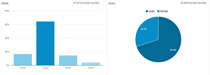 Relatório demográfico do Google Analytics
