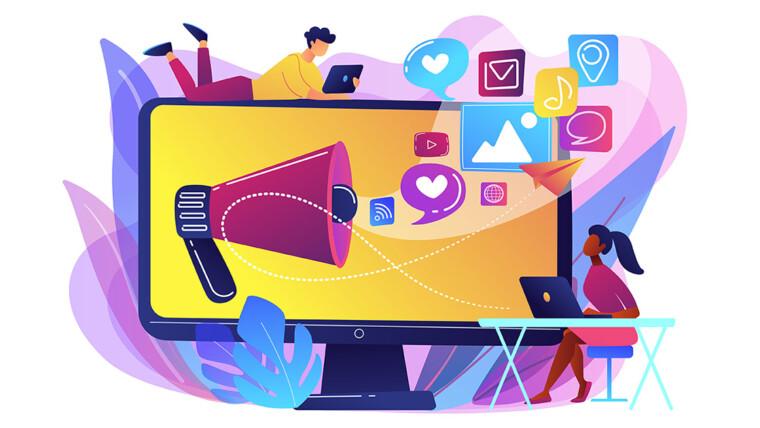Divulgação em mídias sociais