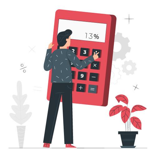 homem com calculadora
